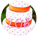 image of pink and orange baby shower