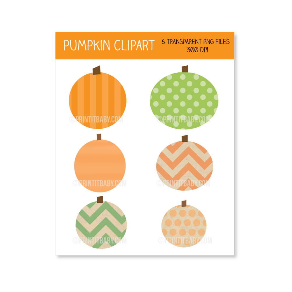 FREE printable fall pumpkin clipart for autumn or halloween
