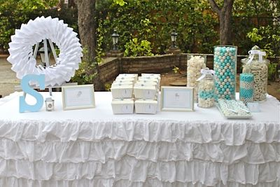 rattle baby shower table display
