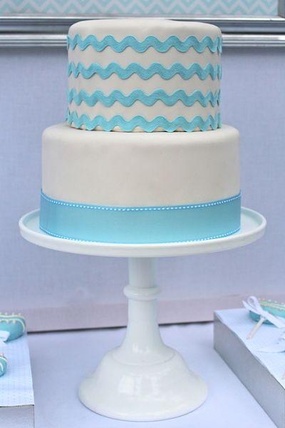blue fondant cake picture