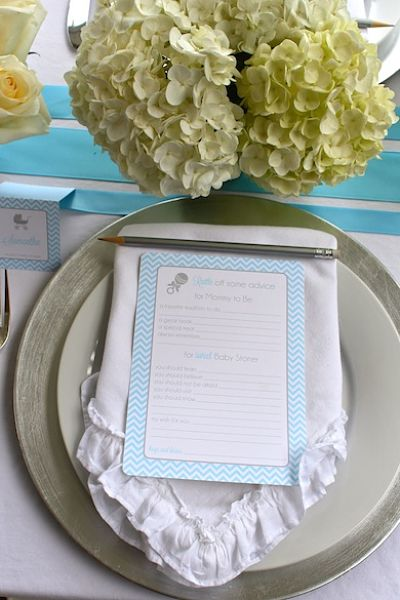 picture of baby shower place setting