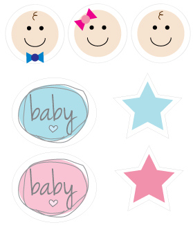 photograph relating to Baby Printable titled Cutest Child Shower Clipart Graphics -