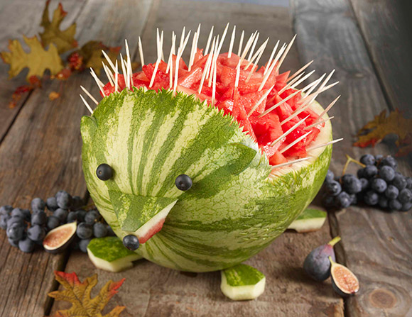 picture of a DIY hedgehog Watermelon