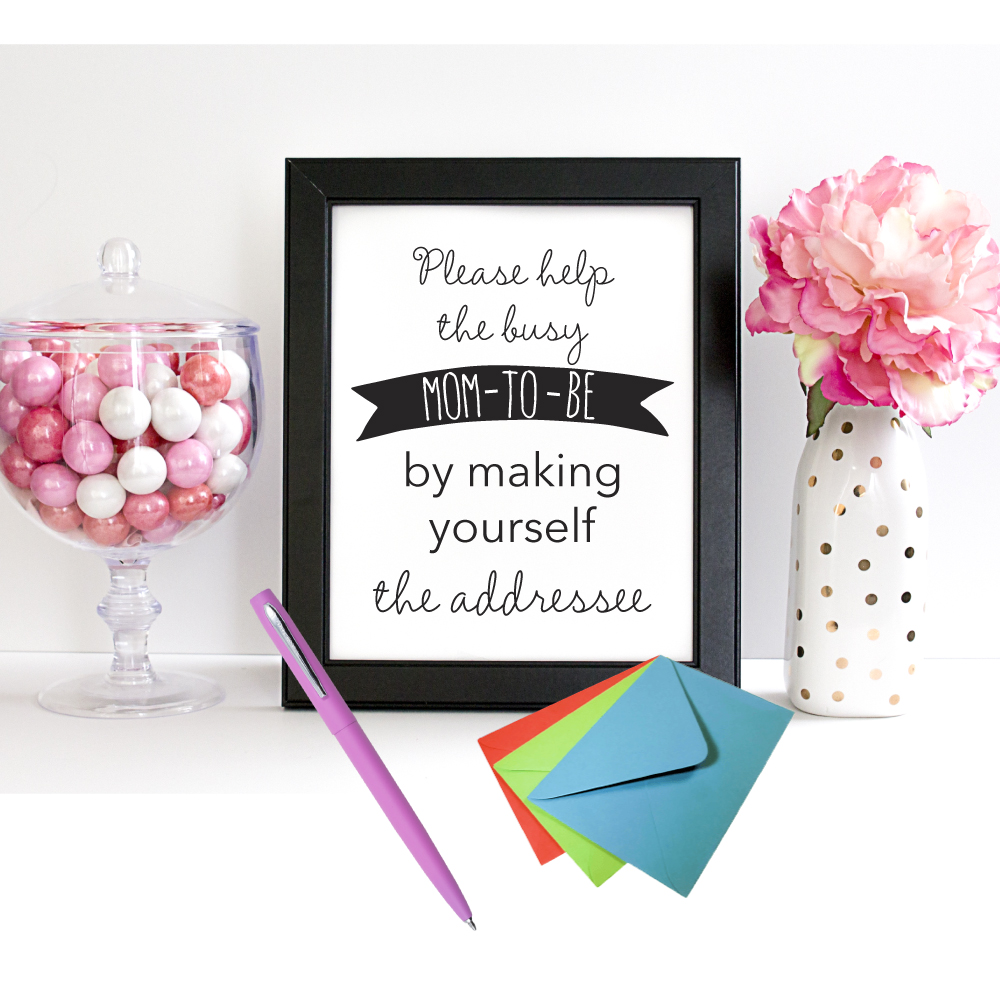 Printable Sign For Baby Shower Thank You Cards   Address Station