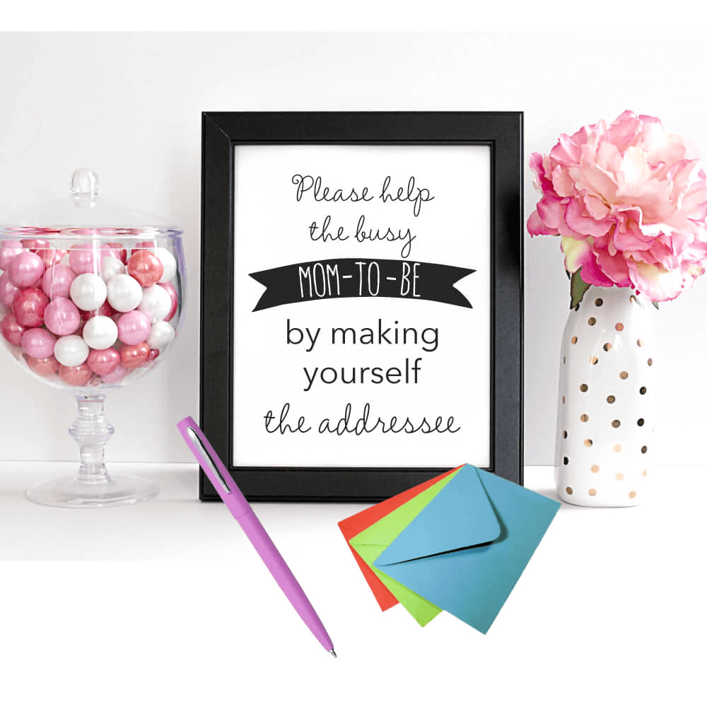 printable baby shower thank you cards sign