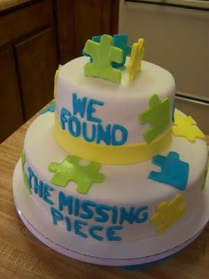 image of adoption party cake