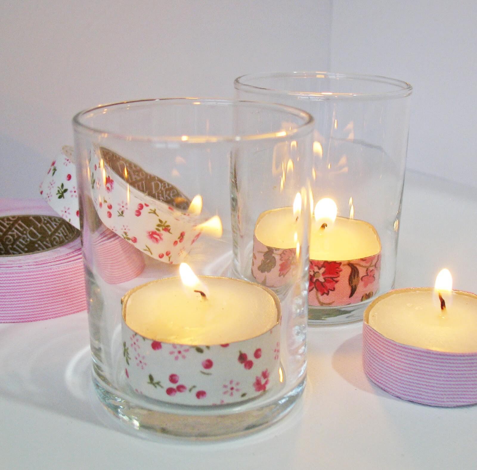 baby shower tea light favors image