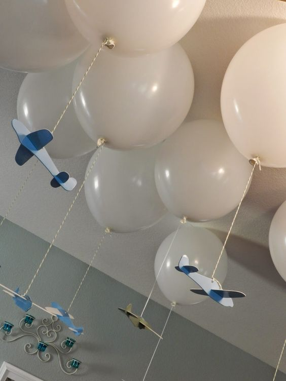 airplane baby shower and party decor image