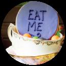 Alice In Wonderland baby shower banner