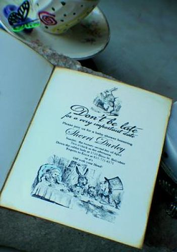image of Alice In Wonderland invitation