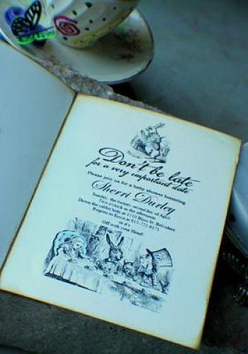 image of Alice In Wonderland invitation