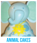 animal baby shower cakes banner