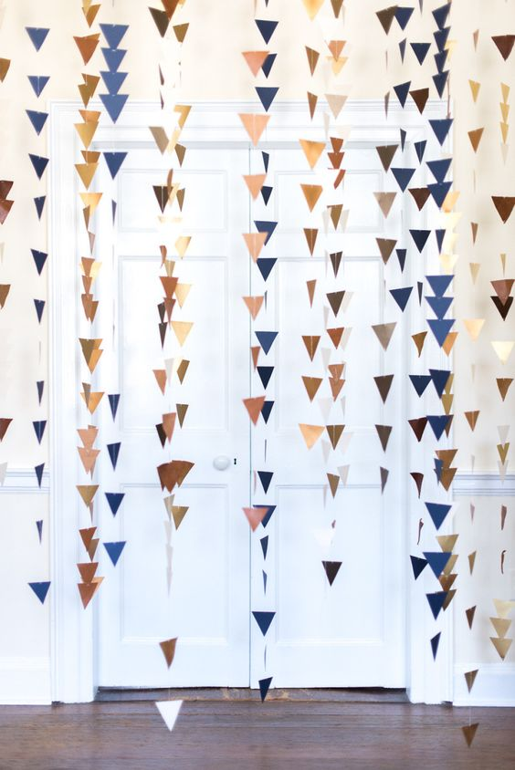 picture of arrow garland for a boho baby shower