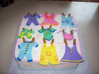 Clothesline Baby Shower Cakes With Pictures And Instructions