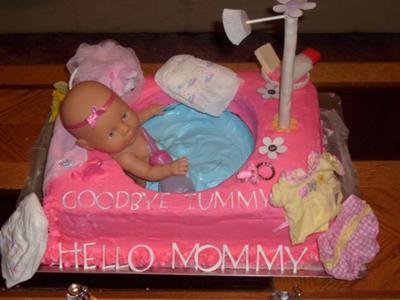 Baby Bathtub Cakes - CutestBabyShowers.com