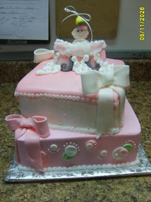 picture of pink baby cake