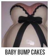 baby bump baby shower cakes banner