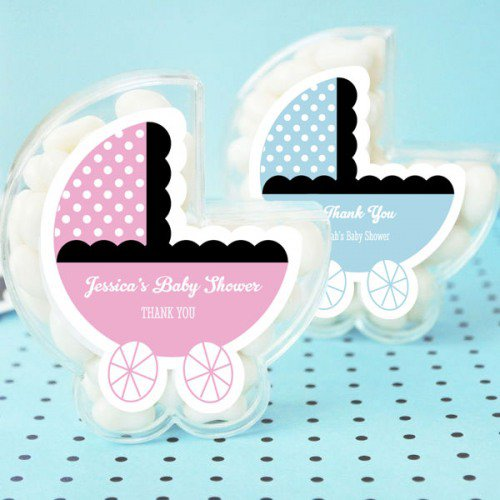 image of baby shower baby carriage mints