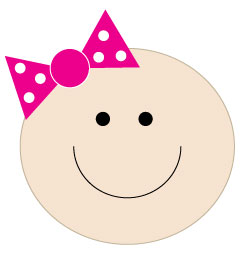 picture of baby girl clipart