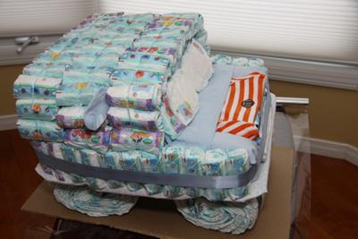 diaper cake instructions not rolled