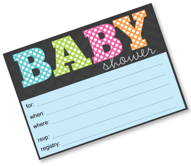 Free Polka Dot Baby Shower Invitation