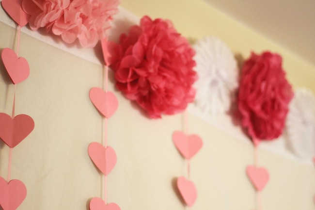 sprinkle baby shower theme ideas  pink hearts and colorful