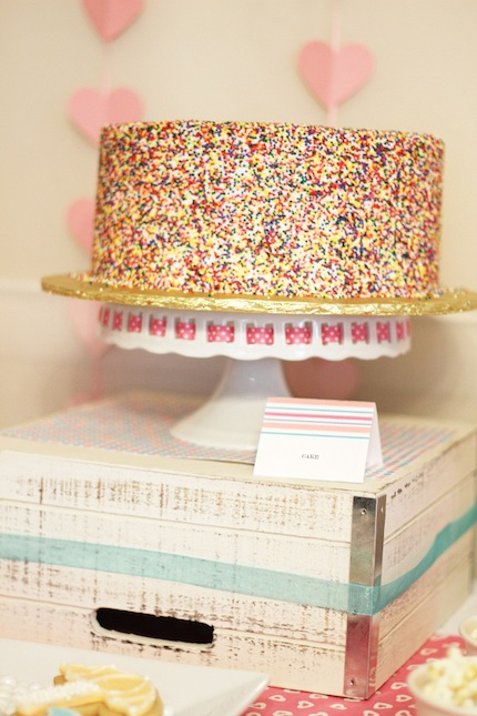 ... bottom tray with multi colored sprinkles sprinkle baby shower ideas