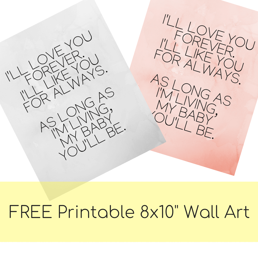 free printable baby nursery wall art