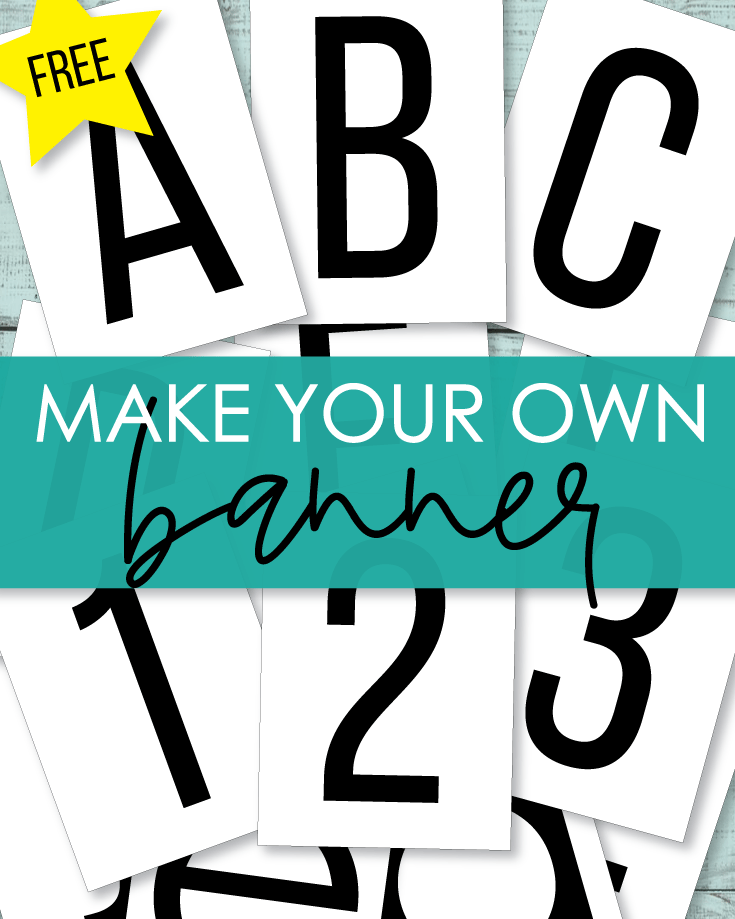Printable Alphabet DIY Banner Letters And Numbers