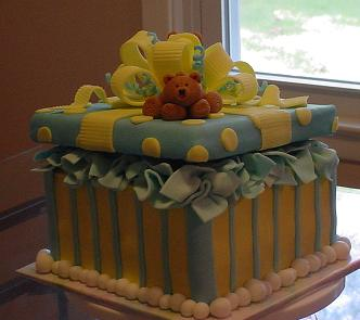 bear baby shower cakes