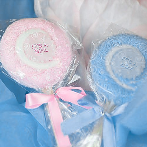 image of cute towel lollipop favors