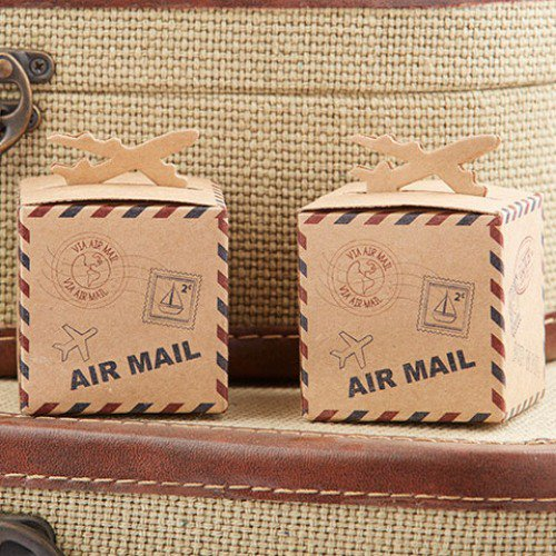 picture of airplane favor boxes