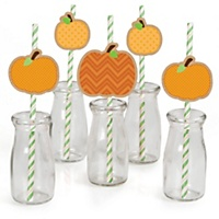 Pumpkin straws for Fall and Halloween party decor