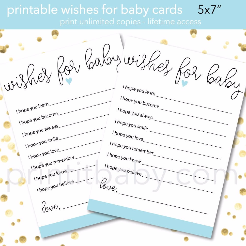 printable baby shower wishes for baby picture