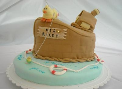 baby shower boat cake picture