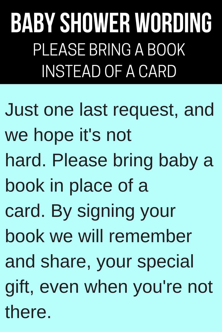 Book Baby Shower Invitations Wording Ideas