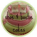baby shoes and booties cake banner