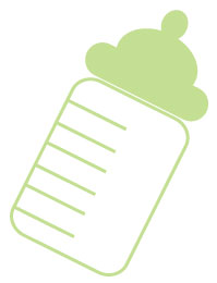 image of green baby bottle clipart