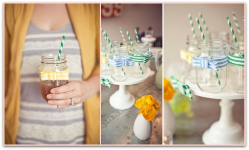 Bow Tie Baby Shower Drink Ideas Banner