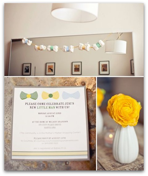 image of bow tie baby shower theme ideas