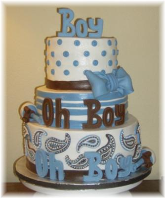 Cute boy baby shower cakes how to ideas decorating tips and more - Deco baby boy ...