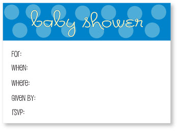 picture of free blue printable baby shower invitations