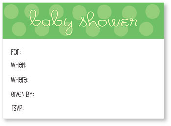 picture of free green baby shower invitations