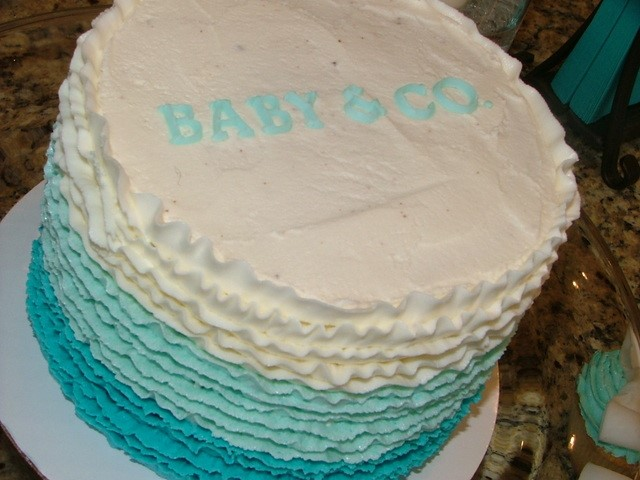 Tiffany's Baby Shower Cake Picture