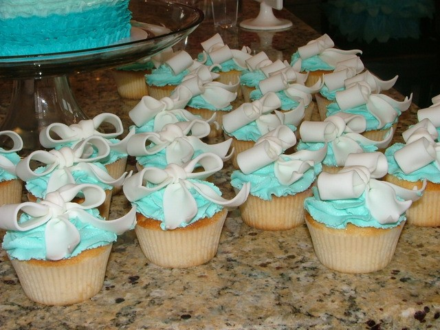 Tiffany's Baby Shower Cupcakes Picture