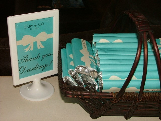 Image Of Tiffany's Baby Shower Candy Bar Wrappers