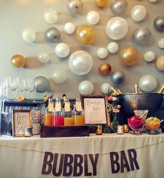 Gold Wedding Decor Ideas: How To Set Up The Cutest Mimosa Bar For A Party