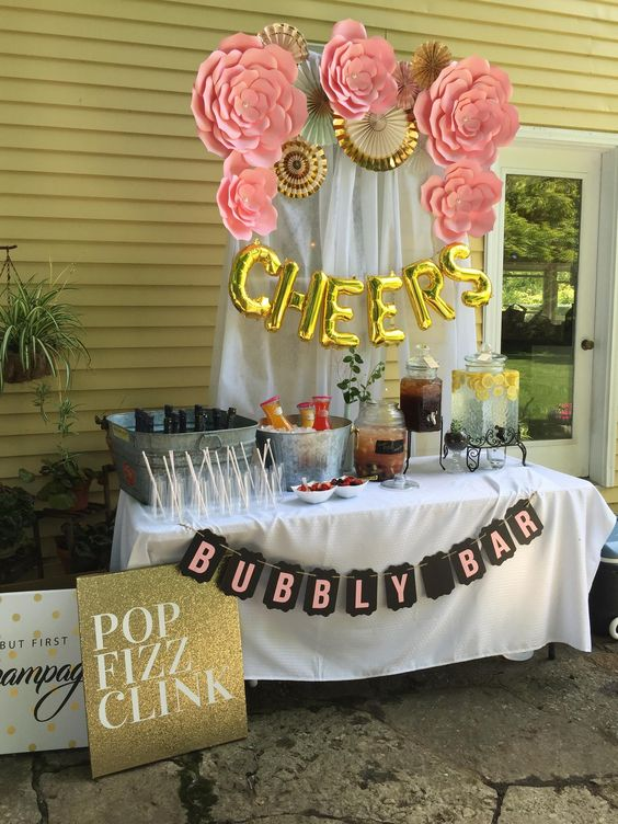 How To Set Up The Cutest Mimosa Bar For A Party