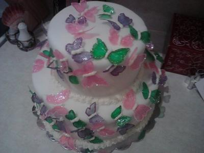 Baby Shower Cakes With Butterflies ~ Flower garden baby shower cakes butterflies and ladybugs too