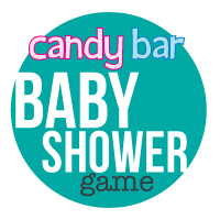 banner of the baby shower candy bar game